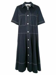 Lee Mathews Alice pocket shirt dress - Blue