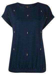 Fay short sleeve embellished T-shirt - Blue