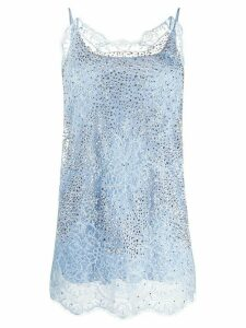 Ermanno Scervino embellished lace detail vest top - Blue