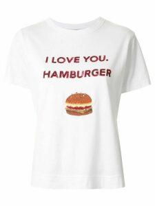 Tu es mon TRÉSOR slogan print T-shirt - White