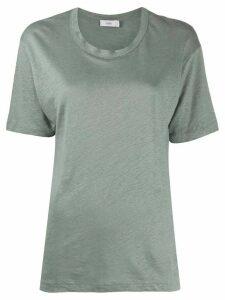 Closed linen short sleeve T-shirt - Green