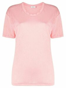 Closed linen short sleeve T-shirt - PINK