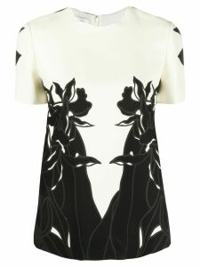 Valentino printed top - NEUTRALS