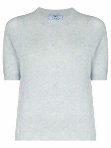 Prada Shetland fine knit top - Blue