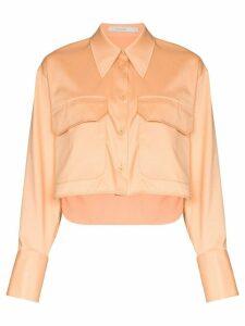 Low Classic cropped shirt - ORANGE