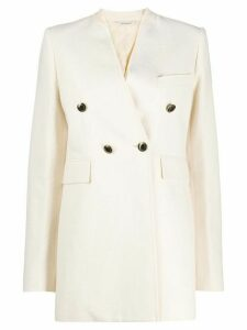 Givenchy collarless double-breasted blazer - NEUTRALS