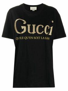 Gucci logo-print T-shirt - Black
