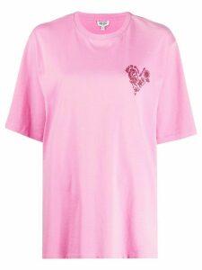 Kenzo heart logo T-shirt - PINK