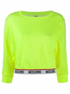 Moschino logo-tape knitted jumper - Yellow