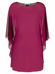 Fisico sheer draped blouse - Red