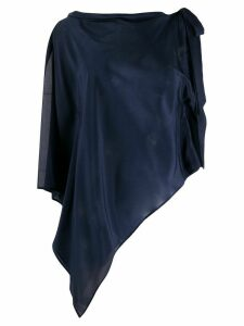 P.A.R.O.S.H. shoulder-tie draped blouse - Blue