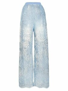 Ermanno Scervino embellished lace trousers - Blue