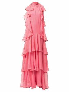 Alberta Ferretti tiered maxi dress - PINK