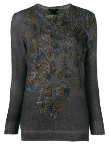 Avant Toi printed sweater - Grey