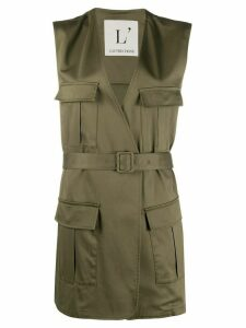 L'Autre Chose sleeveless military jacket - Green