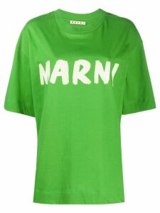 Marni logo-print cotton T-shirt - Green