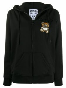 Moschino embellished bear hoodie - Black