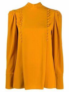 Givenchy button-embellished high-neck blouse - ORANGE