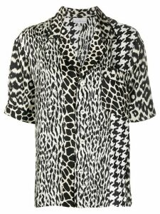 Pierre-Louis Mascia patchwork-print silk shirt - White