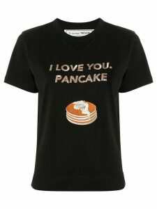 Tu es mon TRÉSOR 'I love you, pancake' sequined T-shirt - Black