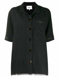 Nanushka Ella textured shirt - Black