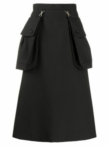 Comme Des Garçons Noir Kei Ninomiya maxi pocket A-line skirt - Black