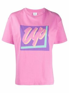 PS Paul Smith Up print round neck T-shirt - PURPLE