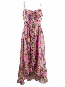 Temperley London silk ruffled dress - PINK