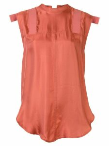 Lee Mathews Edie tie back blouse - PINK
