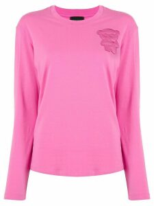 Emporio Armani bear patch T-shirt - PINK