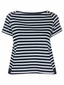 Sacai striped print shirt - Blue
