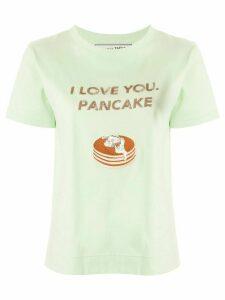Tu es mon TRÉSOR 'I love you, pancake' sequined T-shirt - Green