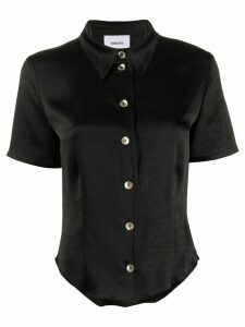 Nanushka satin button-up shirt - Black