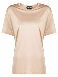 Tom Ford silk short sleeve top - NEUTRALS