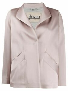 Herno cowl neck short jacket - NEUTRALS