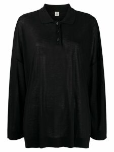 Totême polo knit jumper - Black