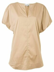 Lee Mathews Alice puff-sleeve blouse - Brown
