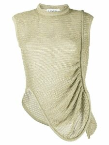 LANVIN asymmetric knitted top - GOLD