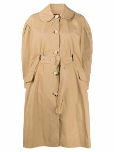 Simone Rocha belted waist coat - Brown