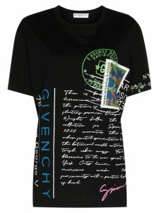 Givenchy postcard collage T-shirt - Black