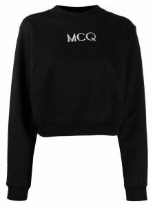 McQ Alexander McQueen embroidered logo sweatshirt - Black
