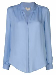 L'Agence mandarin collar silk blouse - Blue