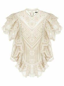Isabel Marant Zanios blouse - NEUTRALS
