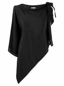 P.A.R.O.S.H. asymmetric silk blouse - Black
