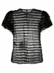 Philosophy Di Lorenzo Serafini sheer stripe blouse - Black