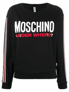 Moschino Under Where print sweatshirt - Black