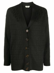 Fendi FF motif knitted cardigan - Black