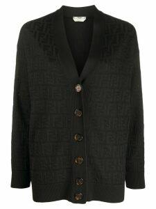 Fendi FF motif knitted cardigan - Black