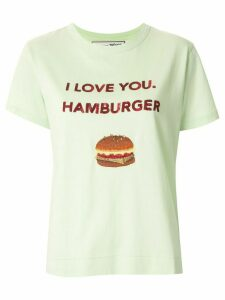 Tu es mon TRÉSOR 'I love you. Hamburger' sequined T-shirt - Green