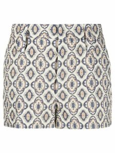 Prada jacquard pattern shorts - White